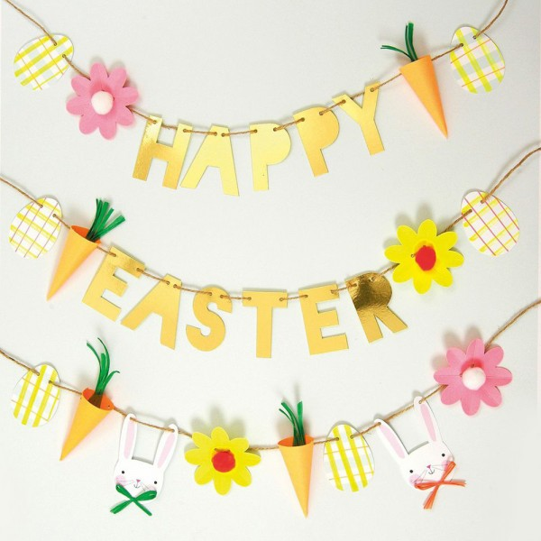 "Girlande Ostern ""Happy Easter"""