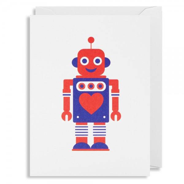 """Kleine Klappkarte """"Robot Love"""" Kelly Hyatt"""