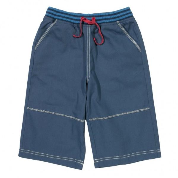 """3/4-Twill-Shorts """"Washed"""" blau"""