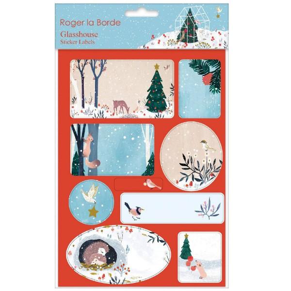 """Sticker-Etiketten 18 Stück """"Winter Garden"""""""