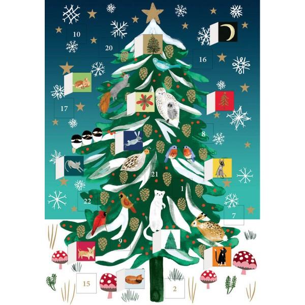 """Adventskalender-Klappkarte """"Christmas Conifer"""""""