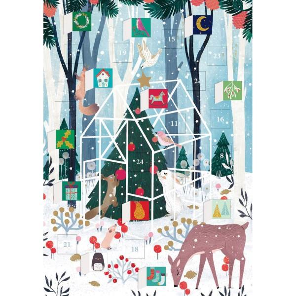 "Adventskalender-Klappkarte ""Winter Garden"""