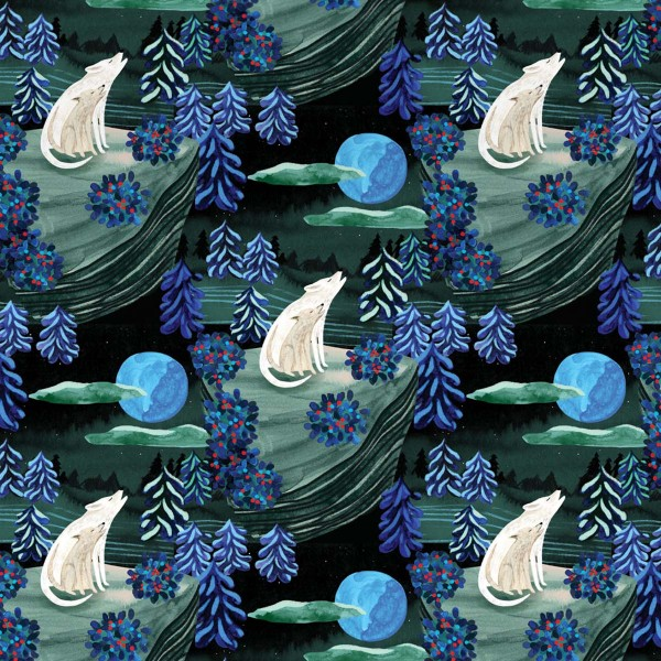 "Geschenkpapier ""By the Light of the Moon"" 2-seitig"
