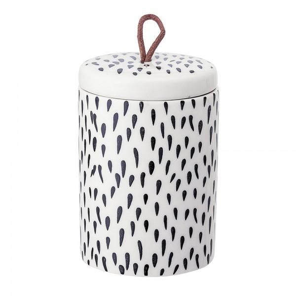 """Keramik-Dose mit Deckel """"Tupfen"""" ø 7,5 cm"""