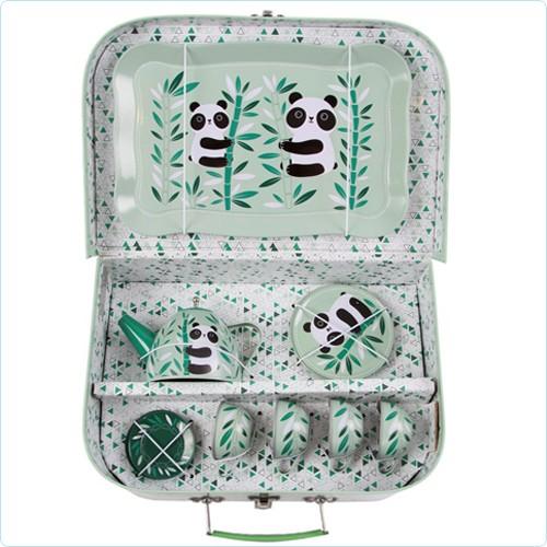 "Spielzeug-Tee-Service & Koffer ""Panda Aiko"""