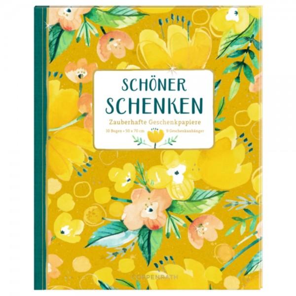 """Geschenkpapier-Buch """"All about yellow"""""""