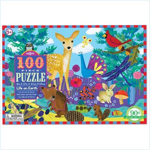 """Puzzle 100 Teile """"Leben auf der Erde"""""""