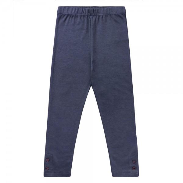 Bio Leggings mit Zierknöpfen navy blau