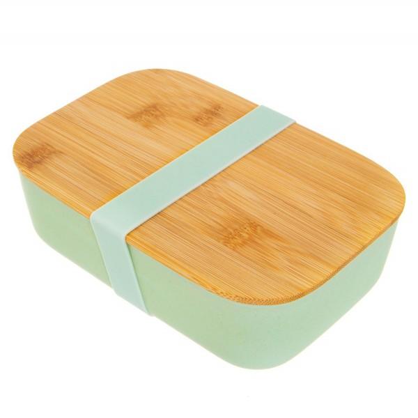 Bambusfaser-Lunchbox mit Bambusdeckel mint