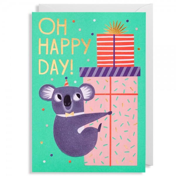 "Klappkarte Allison Black ""Oh Happy Day!"""