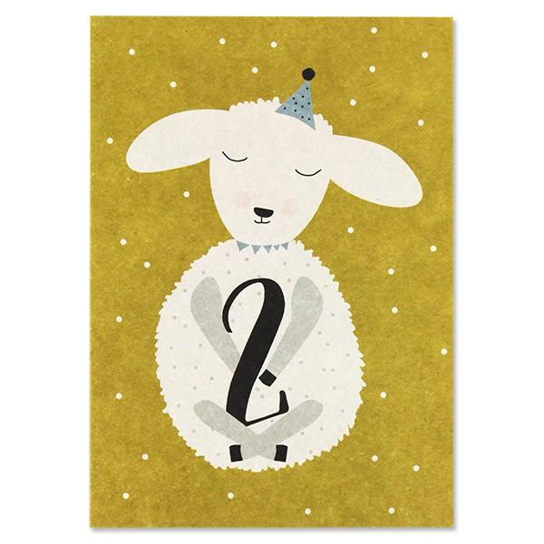 "Postkarte ""2 - Lamm"""