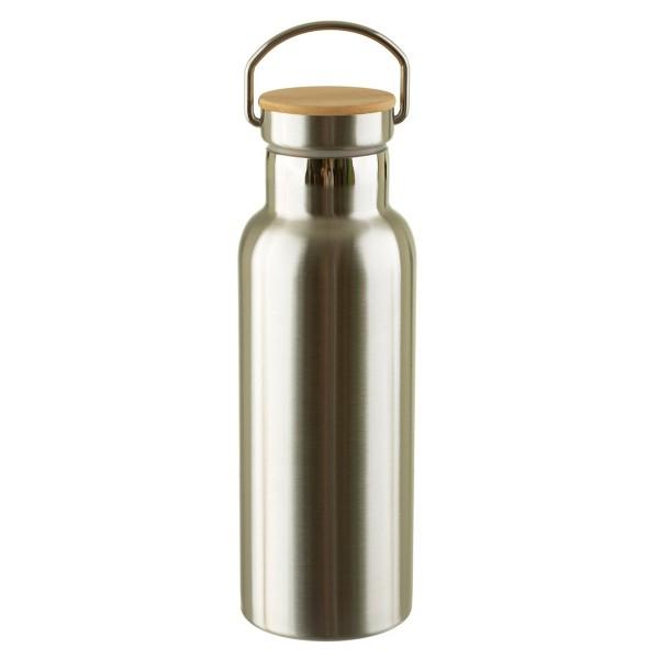 Edelstahl-Trinkflasche blank