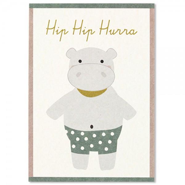 "Postkarte ""Nipferd - Hip Hip Hurra"""