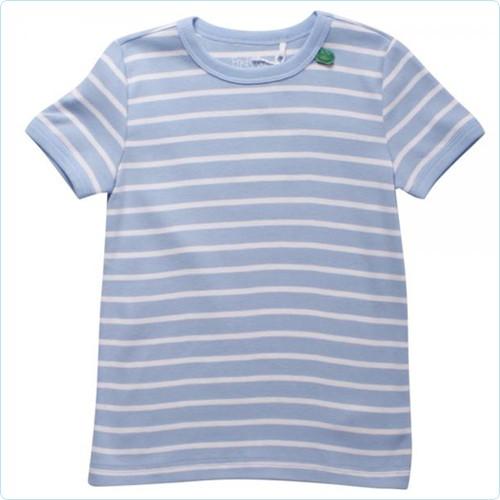"Kurzarm-Shirt KIDS ""Streifen hellblau"""