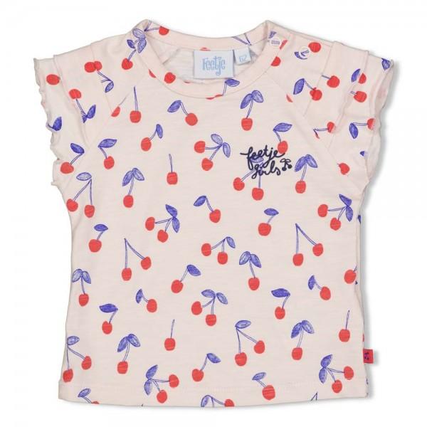 """Baby-Kurzarmshirt """"Kirschen"""" rosa"""