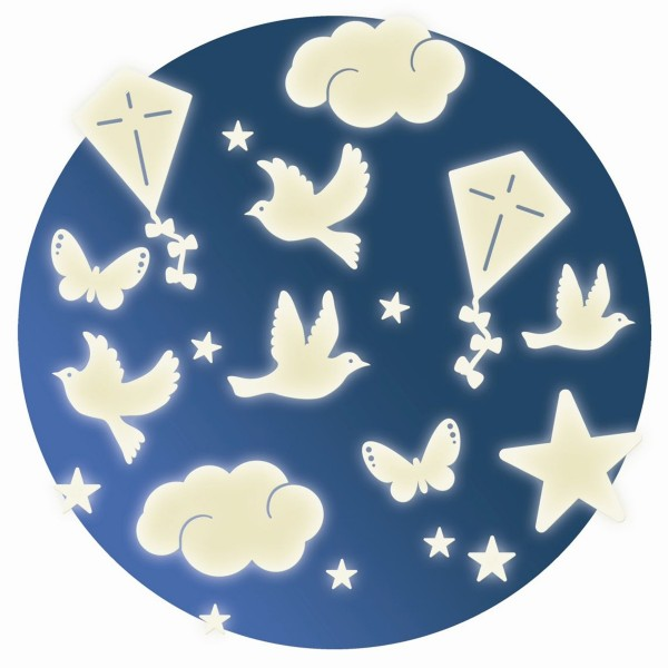 "Glow-in-the-Dark Wandsticker ""Himmel"""
