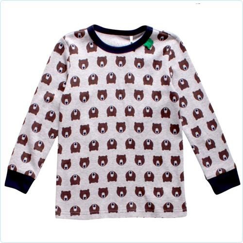 """Shirt KIDS """"Bären Allover"""" grau meliert"""