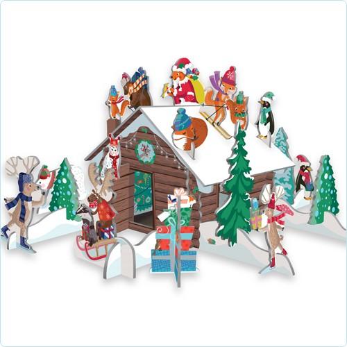"3D Adventskalender Pop&Slot ""Chalet Snow"""