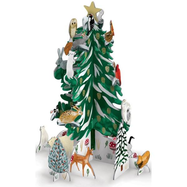 """3D Adventskalender Pop&Slot """"Woodland Christmas Conifer"""""""