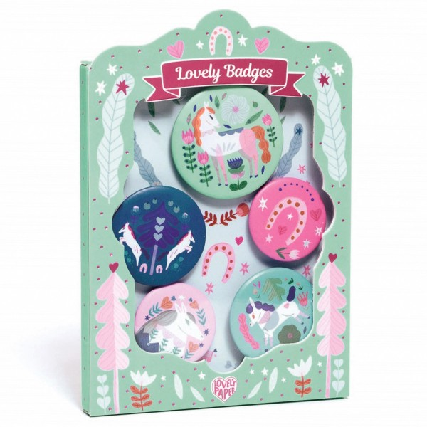 "Ansteck-Buttons ""Lovely Badges - Pferde"""
