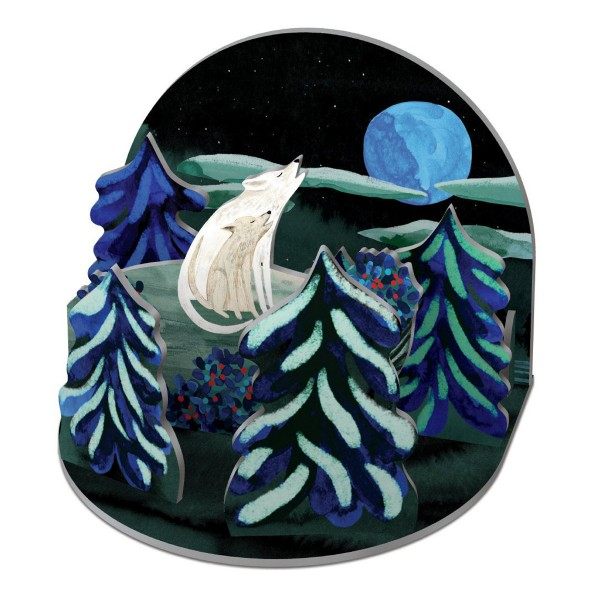 """3D Winterszenerie Pop&Slot """"By the Light of the Moon"""""""