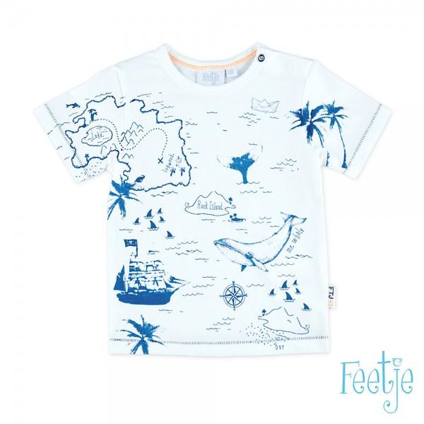 """Kurzarm-Shirt """"Aye Aye"""" weiß/blau"""