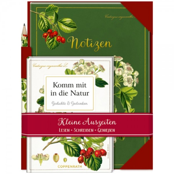 """Set Buch/Heft/Bleistift """"Kleine Auszeiten - Natur"""""""