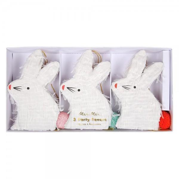 "3 Mini-Pinatas ""Bunny"""