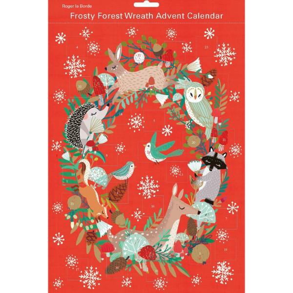 "Adventskalender ""Frosty Forest Wreath"""
