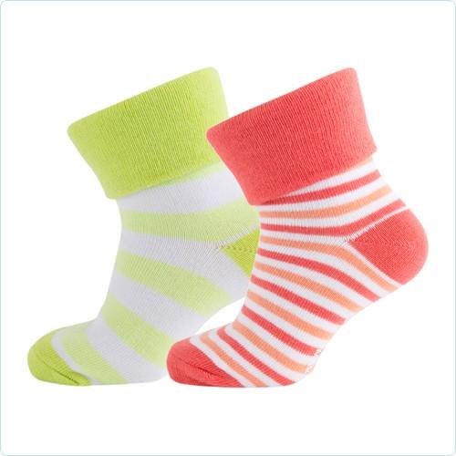 2er Pack Melton Socken Streifen Mädchen
