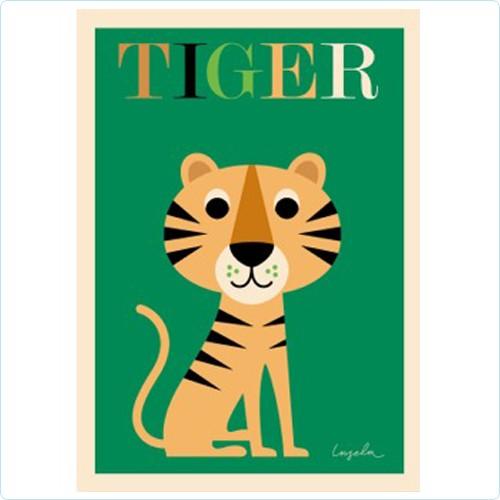 """Poster """"Tiger"""" Ingela P Arrhenius"""