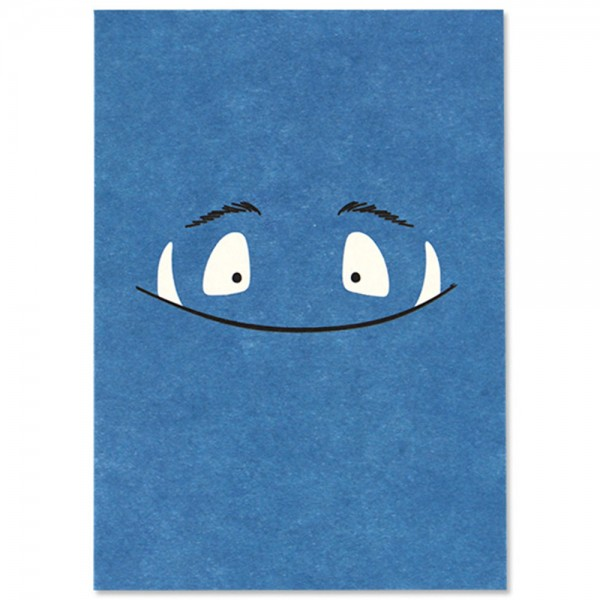 "Postkarte ""Monster"" blau"