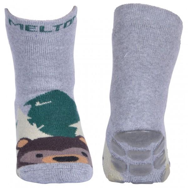 """ABS-Frottee-Socken """"Bär"""" grau melange"""