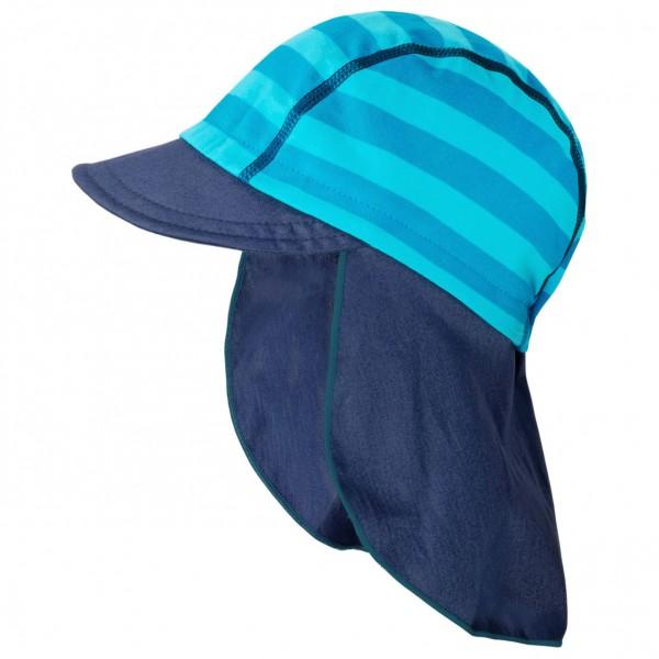 """Schildmütze mit Nackenschutz """"Streifen"""" meeresblau/blau"""