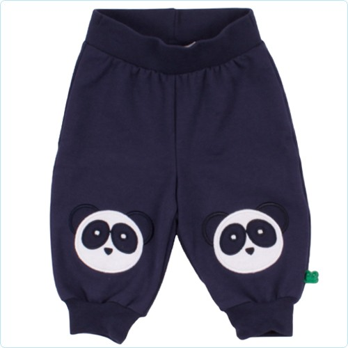 "Sweat-Hose mit Knie-Applikation ""Pandabär"" navy"