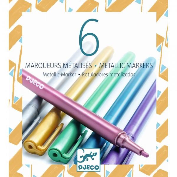 """6 Stifte """"Metallic-Marker"""""""
