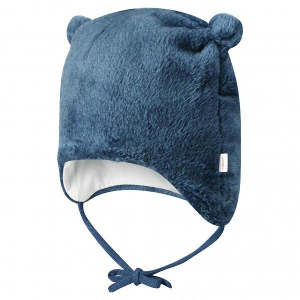 Baby-Kuschelfleece-Mütze mit Öhrchen jeansblau