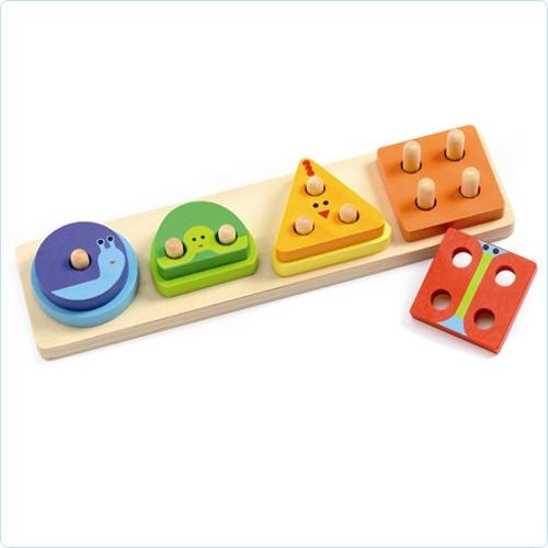 """Holz-Steckpuzzle """"1234 Basic"""""""