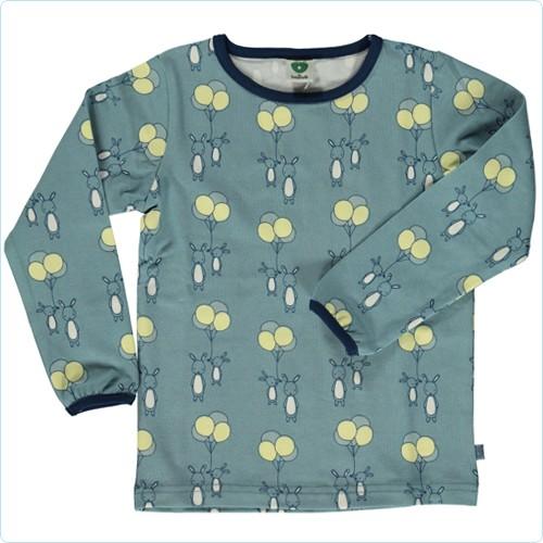 "Shirt ""Hase & Ballons"" blau"