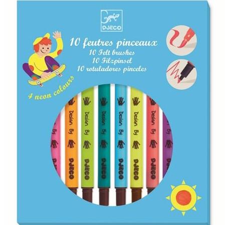 """10 Doppelfasermaler-Filzstifte """"Pop colours"""""""
