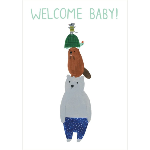 "Klappkarte ""Welcome Baby!"" Kate Pugsley"