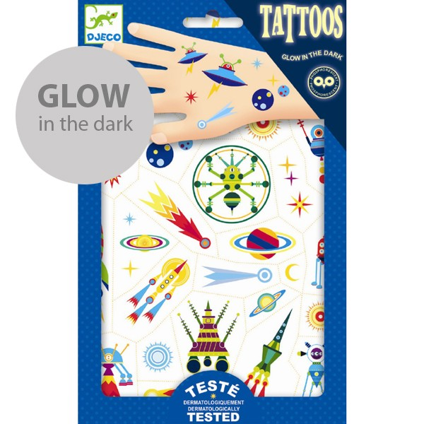 "Tattoos ""Space Oddity"" Glow in the Dark"