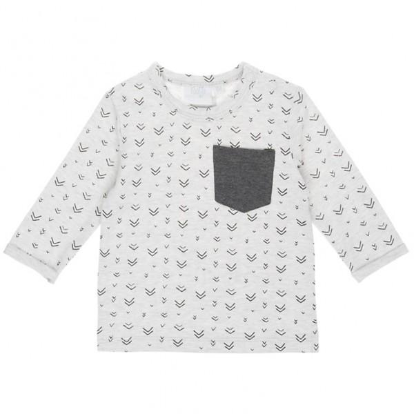 """Baby-Shirt """"Team"""" grau melange"""