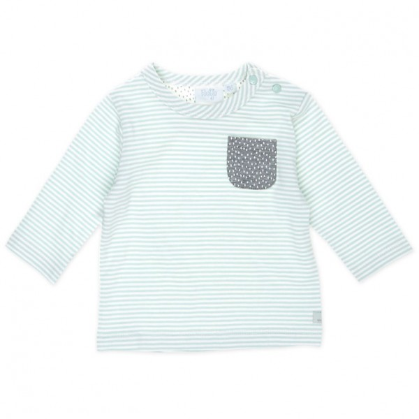 "Baby-Shirt ""Tiny Me - Ringel"" weiß/mint"