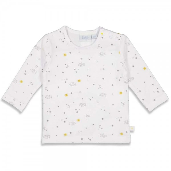 """Bio Baby-Shirt """"Sonne & Mond"""" weiß"""