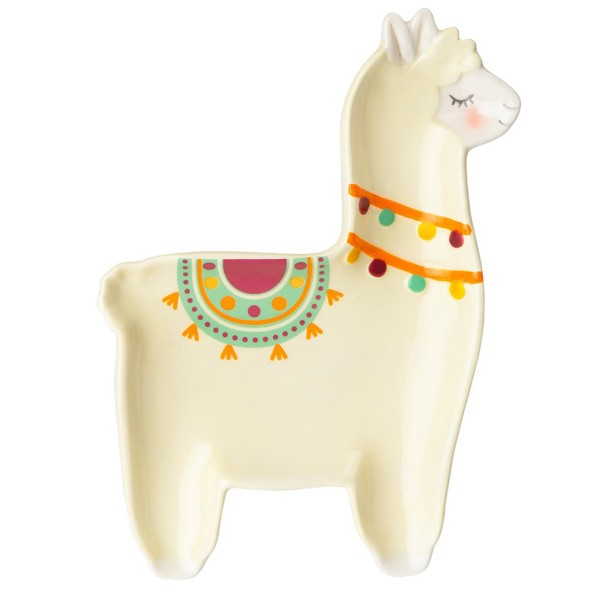 """Keramikschale/Schmuckteller """"Lama-Form"""""""