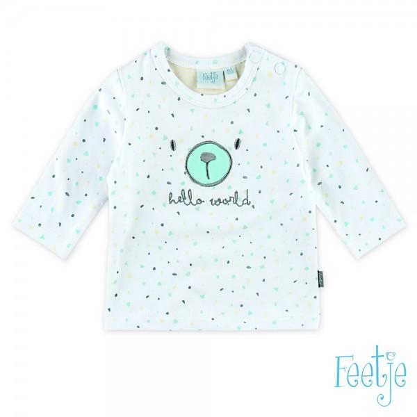 """Baby-Shirt """"Hello World"""" weiß"""