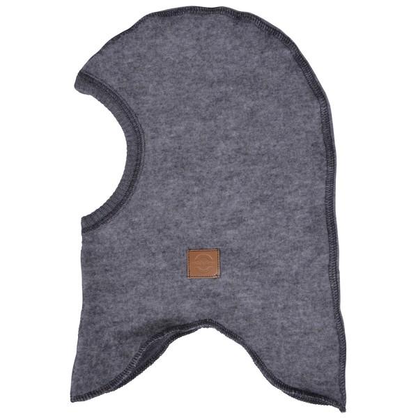 Wollfleece-Schlupfmütze grau melange