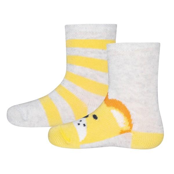"""2er Pack Socken """"Löwe/Ringel"""""""