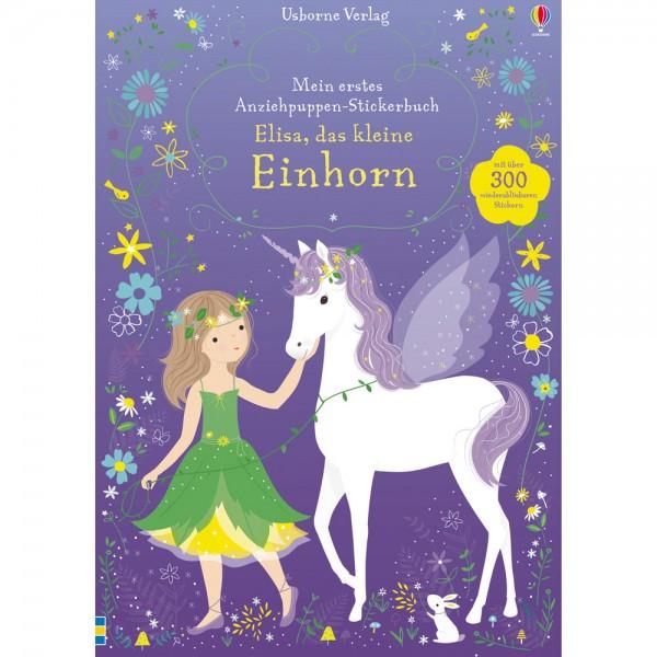 """Anziehpuppen-Stickerbuch """"Elisa, das kleine Einhorn"""""""